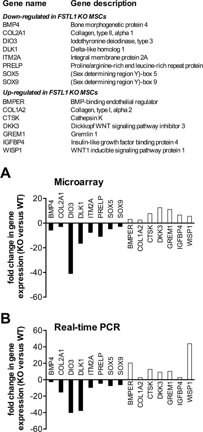 Follistatin-like protein 1 regulates chondrocyte proliferation and