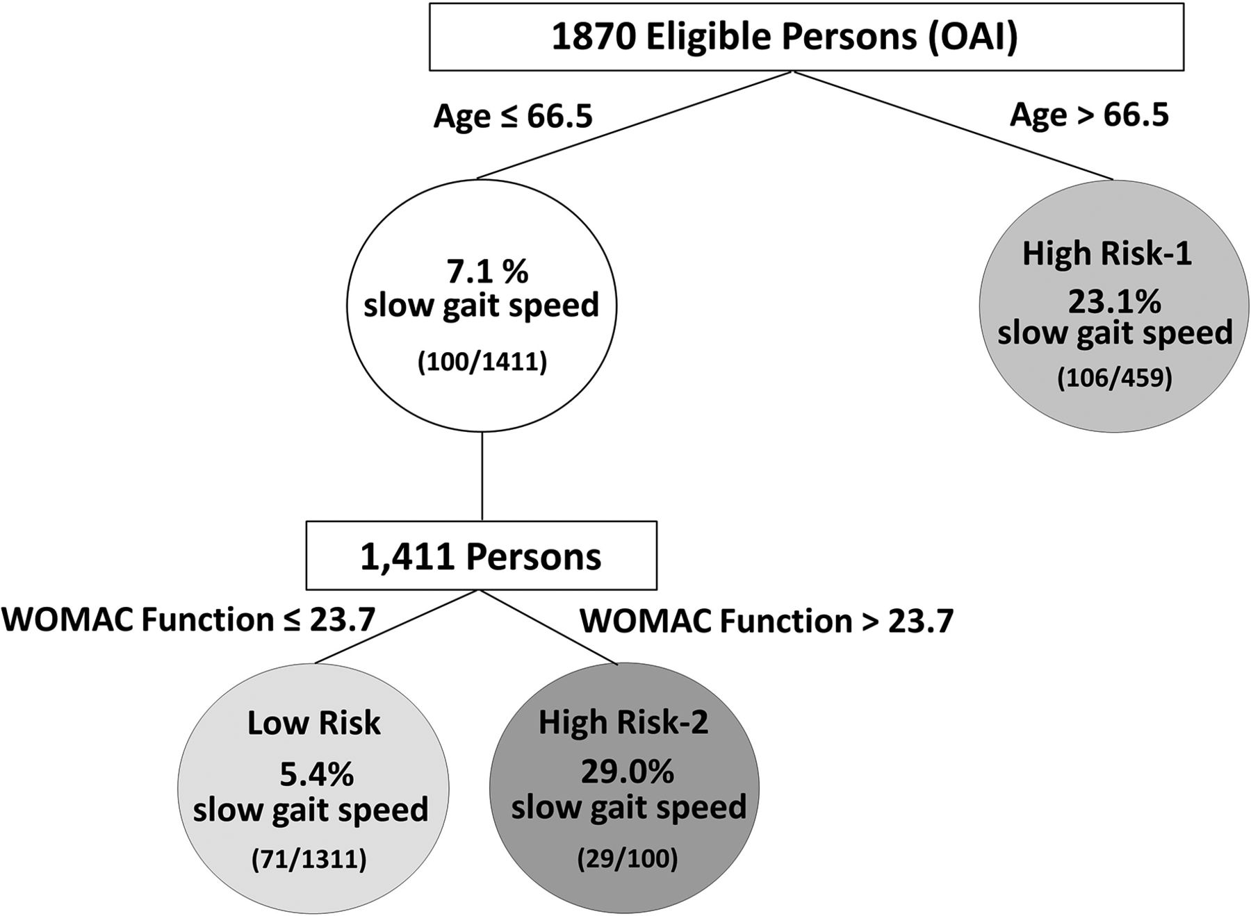 Development and validation of risk stratification trees for incident