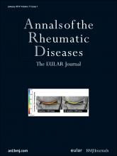 Annals of the Rheumatic Diseases: 71 (1)