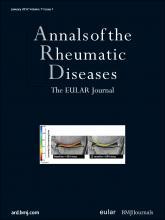 Annals of the Rheumatic Diseases: 71 (1)