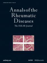Annals of the Rheumatic Diseases: 71 (10)
