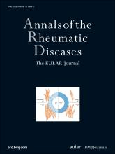 Annals of the Rheumatic Diseases: 71 (6)