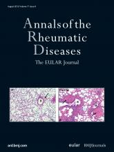 Annals of the Rheumatic Diseases: 71 (8)