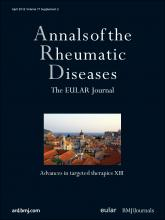 Annals of the Rheumatic Diseases: 71 (Suppl 2)