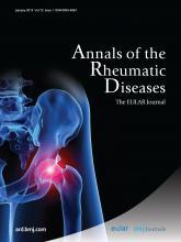Annals of the Rheumatic Diseases: 72 (1)