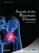 Annals of the Rheumatic Diseases: 72 (12)