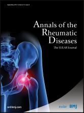 Annals of the Rheumatic Diseases: 72 (9)