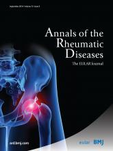 Annals of the Rheumatic Diseases: 73 (9)