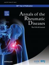 Annals of the Rheumatic Diseases: 78 (6)