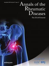 Annals of the Rheumatic Diseases: 79 (12)